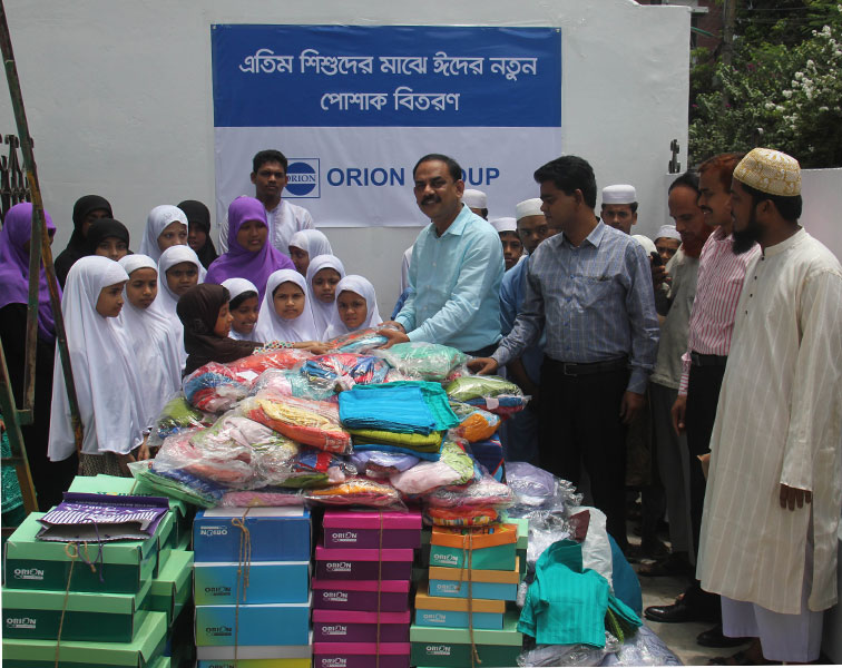 Orion Group distributes clothes to the orphan and students to make their Eid day joyful